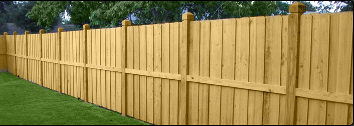 Wood Fence in Palm Coast, Florida
